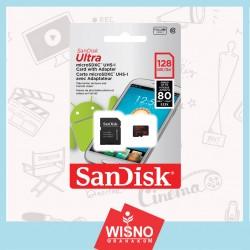 MICRO SD Sandisk Ultra 128 GB C10 WA SP 80